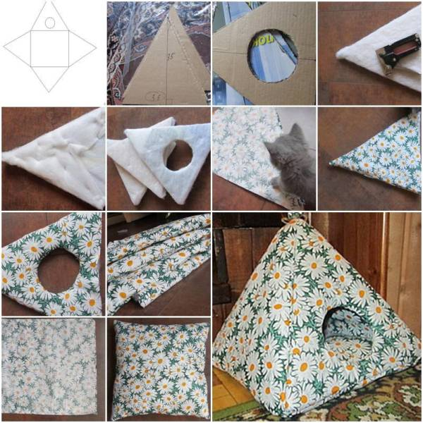 Diy cozy cat tent