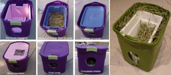 Diy outdoor cat shelters